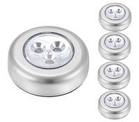 LED batteridriven trådlös nattljuspinne Tryck på TURT LAMP Stick-on Tryckljus för garderober, skåp, etc. Innehåller inte batterier