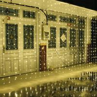 도매 10M x 5M 1600LED 야외 홈 크리스마스 장식 크리스마스 문자열 요정 커튼 스트립 Garlands 파티 조명에 대한 웨딩 장식