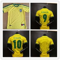 Top quality ! brasil Retro jersey soccer jerseys 1998 World ...