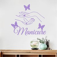 Vinyl wall sticker Beauty Nail Art Manicure Wall stickers Bu...