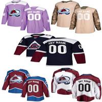 2019 Новости Colorado Avalanche Hockey Jerseys Mens Пользовательские Любые имя Любое количество номеров Колорадо Лавина Хоккей