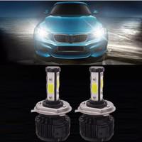 LED de 400W 40000LM H7 farol do carro Kit Auto Frente Luz Fog Bulb Branco 6000K faróis LED H1 H11 9005 9007 Substituir Xenon Kit