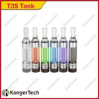 Kanger T3S Atomizer 3.0ml Clearomizer zbiorniki Kangertch T3S Atomizer z zmiennymi cewkami 100% oryginału dla E Cig