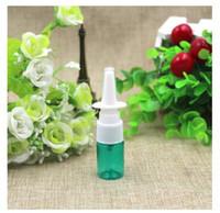 100 unids / lote, 5 ml botella de spray nasal, botellas de spray médico con hombro plano, atomizador de plástico PET, botella de spray cosmético