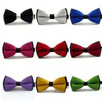 Оптовая новая мода мужчины галстуки-бабочки галстуки для мужчин галстуки бабочка галстук бантом для свадьбы матовый сплошной цвет мозаики