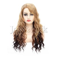 22 Inch High Temperature Hair Long Mix Blonde Color Wavy Syn...