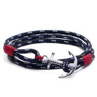 Trendy Tom Hope Fashion Armbänder Navigation Seil Armbänder für Männer Pink Rope Handcraft Armband Fine Charm Armbänder Weihnachtsgeschenk