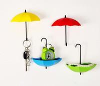 Gancho De Parede Guarda-chuva colorido Chave Pin Titular Organizador de Cabelo Decorativo Auto Adesivo de Parede Gancho Da Porta Gancho