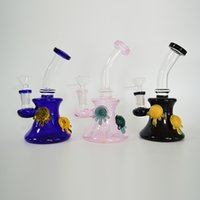 Glass Beaker Bong Recycler Borosilicate Glass Dab Rigs Fixed...