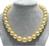 10-11mm Natural South Seas Collana di perle in oro 17inch collane di perline 14 k fermaglio in oro