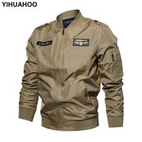 YIHUAHOO Größe 5XL 6XL Jacke Männer Taktische Dünne Reißverschluss Mantel  Männer Multi Tasche Armee Pilot Flug 069739f89d