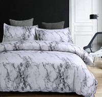 Motif marbre Ensembles de literie housse de couette 2 / 3pcs Ensemble de lit double Quilt Double Queen Couverture Linge de lit (No feuille No de remplissage)