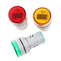 AD16-22DSV 22 MM CA 60-500 V LED voltímetro del coche Medidor de voltaje Indicador Piloto Luz Rojo Amarillo Verde Amperímetro Digital Ampermetre Alta calidad