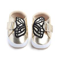 Новорожденный ребенок Первые Уокеры Обувь Младенческая Бабочка Малыша Сапоги Мальчик Девушка Веретая Обувь Кроссовки Предатель