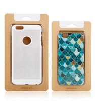 Universal Phone Case Cover Kraft papier d'emballage pour l'iPhone 8 7 plus Affichage de la fenêtre en PVC plastique emballage détail clair
