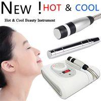 2 in 1 HO T-Kryo Keine Nadel-Elektroporation Meso Mesotherapie Cool Gesichtsregler Anti Aging Hautpflege Schönheitsmaschine