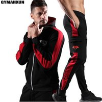 GYMAHXUN Gyms Neue Herren Sets 2018 Fashion Sportswear Trainingsanzüge Sets Herren Slim Fit Hoodies + Pants Casual Outwear Herrenanzüge