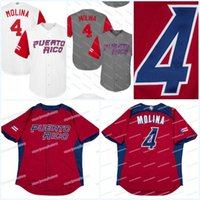 Wholesale puerto rico jersey online - Men Puerto Rico YADIER MOLINA  Baseball Jersey All Stitched YADIER 5c0abd569