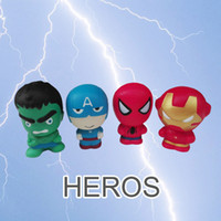 Hero Squishies Cartoon Character Squishy Phone Pendant Slow ...
