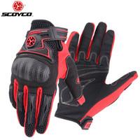 Protezione Scoyco Guanti da moto Guanti da moto Moto Knight Glove per la primavera e l'estate M-23 Black Red Blue Colour