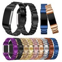 Für fitbit charge 2 strap edelstahl armband uhrenarmband für fitbit charge2 band smart watch armband ersatz bunte