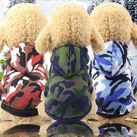 Outono Inverno camuflagem revestimento roupa para cães pequenos Tidy Superhero Costume velo do filhote de cachorro roupas para cães Suprimento de Produtos
