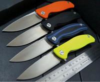 Shirogorov F3 aleta cuchillo ningún logotipo D2 G10 hoja de caza que acampa cuchillos regalo auto automática cuchillo plegable de Navidad 1pcs