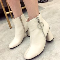 Sweet light beige becket chunky heel ankle boots comfortable...