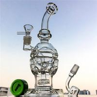 Faberge Egg Glass Bong Duschkopf Perkolator Recycler Öl DAB Rigs Swiss Perc Water Rohr Recycler Bongs 14mm Weibliches Gelenk mit Schüssel