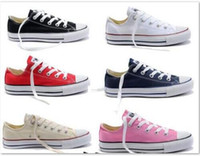 prix promotionnel! NOUVELLE taille35-46 New Unisexe Low-Top High-Top adultes Hommes Toile Chaussures 14 couleurs Laced Up Casual Shoes Sneaker chaussures