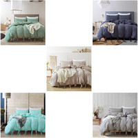 Simple Style Pattern Duvet Cover 3PCS Set Ultra Soft and Eas...