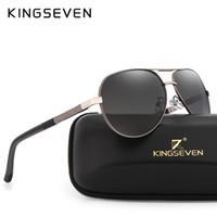 KINGSEVEN Marca Hombres de Aluminio Magnesio Gafas de Sol HD Polarizadas UV400 Gafas de Sol oculos Male Eyewear Gafas de Sol Para Hombres N725
