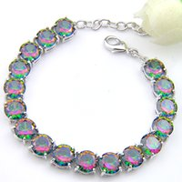 5Pcs Luckyshine Sparking Trendy Fire Round Rainbow Mystic To...