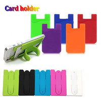Universal soft silicone card slot cards pocket credit holder...