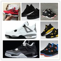 NEW 4 Bred black cat toro red Low white men basketball shoes...