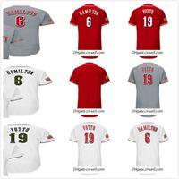 Personalizzato 150th Brandon Phillips 19 Joey Votto 6 Billy Hamilton Eugenio Suarez Scooter Gennett Tucker Barnhart Red White Grey Baseball Jersey