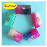 BestKid DHL Бесплатная доставка! Новый желе сумки для новорожденных девочек Детская летняя мода портмоне дети Crossbody сумки новые конфеты цвета сумки BK058