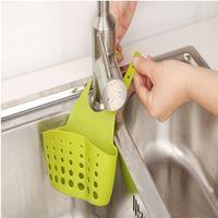 Aufbewahrungskörbe Kreative Wäschekorb einstellbare Snap-on Spüle Lagerung hängen Küche Rack Wasserhahn Schwamm Abflussbeutel