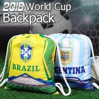 World Cup 2018 Drawstring Bag Brazil Russia Football Fans Ba...