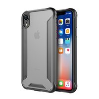 For iPhone XR Soft TPU Bumper Case Clear Hybrid Back Cover C...