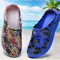 Camouflage tarmac Summer Beach Slippers Men Hollow Out Breat...