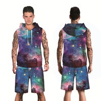 New Spring Fashion 3D Galaxy Men' s Leisure Suit Printed...