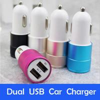 Chargeur allume-cigare double port USB universel 2.1 A Adaptateur de charge led pour iP 6 7 8 Tablette Samsung S8 Nokia