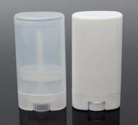 1000 adet 15g Plastik Boş DIY Oval Dudak Balsamı Tüpler Taşınabilir Deodorant Konteynerler Temizle Beyaz Ruj Moda Serin Dudak Tüpler