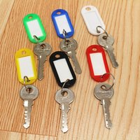 Wholesale couleur en plastique Keychain hôtel numéro de clé nombre liste carte classification