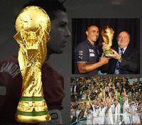 """Dernière Coupe du monde de football résine Trophée Champions grand Souvenir pour le cadeau Taille 13 cm, 21 cm, 27 cm, 36 cm (14.17"""") comme fans Cadeau ou Coll"""