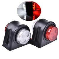 1 Pair LED Double Side Marker Light Clearance Lamp 12V 24V T...