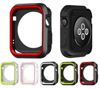 Funda de silicona deportiva para Apple Watch Contraste Color Protector suave Funda protectora Cubierta para iWatch Serie Apple Watch 1 2 3 38mm 42mm