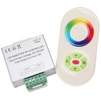 الجملة اللاسلكية RF اللمس باهتة عن بعد RGB تحكم DC 12V-24V 18A RF التحكم عن بعد ل3528 قطاع RGB LED ضوء الشريط الصمام الثنائي 5050