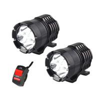 1 par faros LED de la motocicleta 12V 80W 8000LM U2 LED haz de la moto faro Moto Spot luz principal lámpara auxiliar DRL